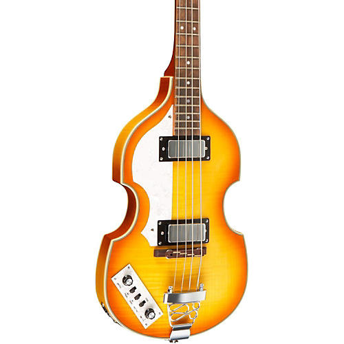 Rogue VB100LH Left-Handed Violin Bass Guitar Vintage Sunburst