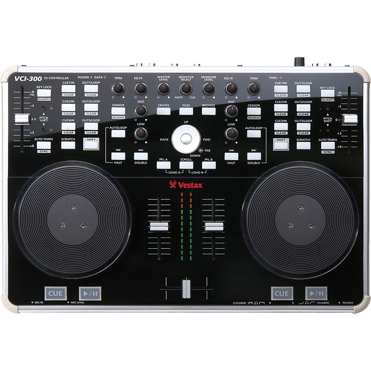 VestaxVCI-300 DJ Controller with Serato ITCHBlack