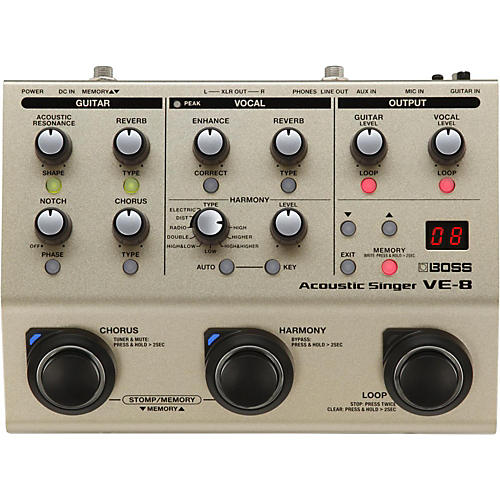 Boss VE-8 Acoustic Singer Multi-Effects Pedal-thumbnail