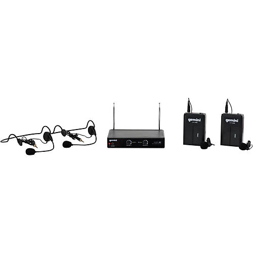 Gemini VHF-02HL Dual Channel VHF Lavalier Wireless Headset System-thumbnail