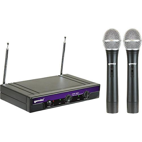 Gemini VHF-2001M Dual Handheld Wireless System S48