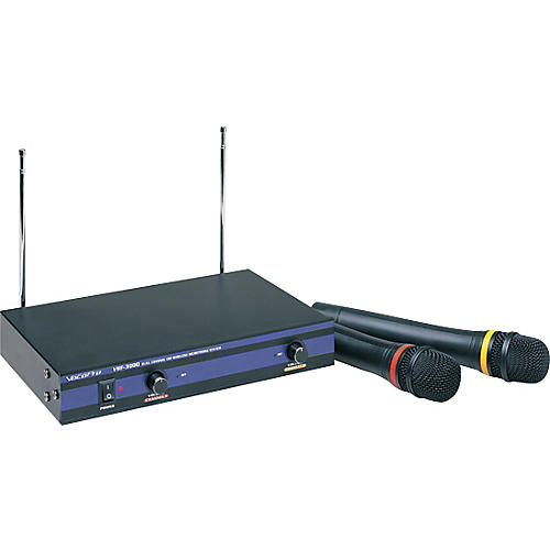 VocoPro VHF-3000 Dual Channel Wireless Mic System