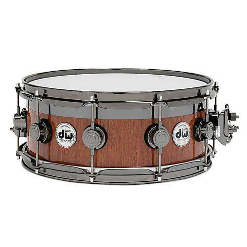DW VLT Maple Mahogany Top Edge Snare Drum 14x6 Inch Black Nickel Hardware