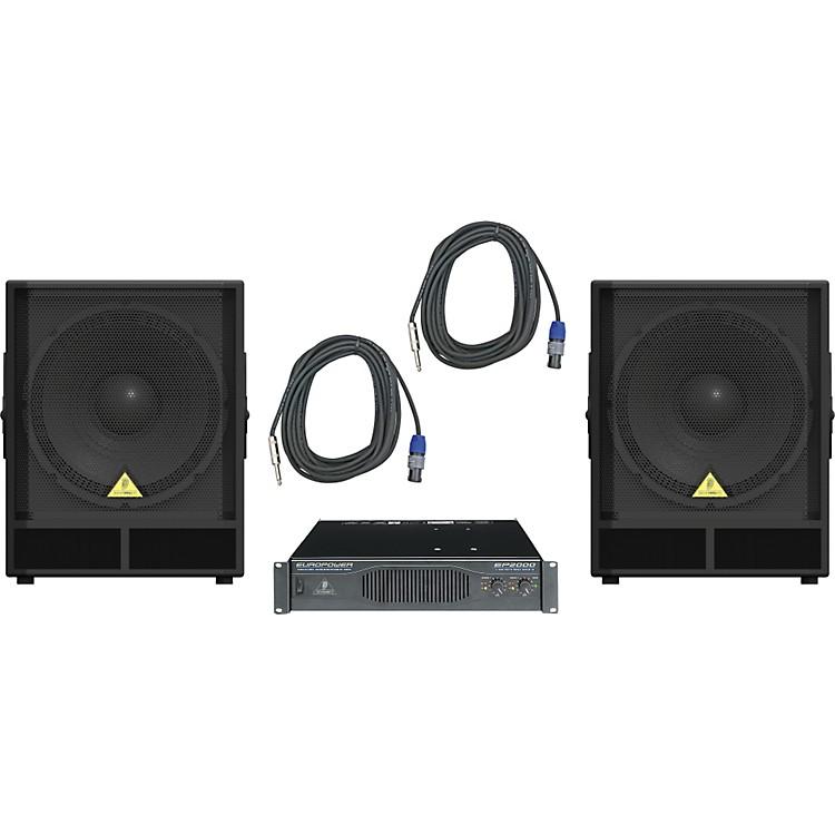 BehringerVP1800S / EP2000 Speaker & Amp Package