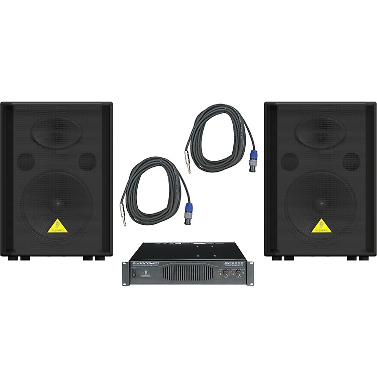 Behringer VS1220 / EP2000 Speaker & Amp Package