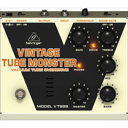 Behringer VT999 Vintage Tube Monster Classic Tube Overdrive Guitar Effects Pedal-thumbnail