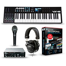 Alesis VX49 49-Key Keyboard Controller Package Recording Package