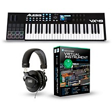 Alesis VX49 49-Key Keyboard Controller Package Virtual Instrument Package