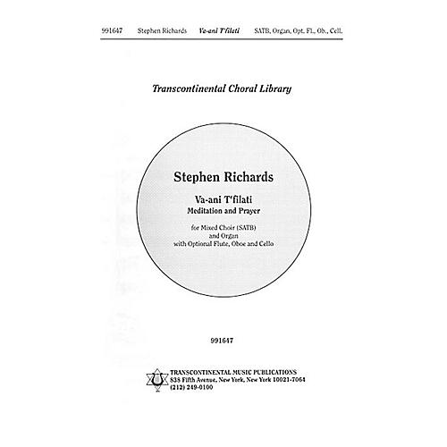 Transcontinental Music Va'ani T'filati (Meditation And Prayer) SATB composed by Stephen Richards-thumbnail