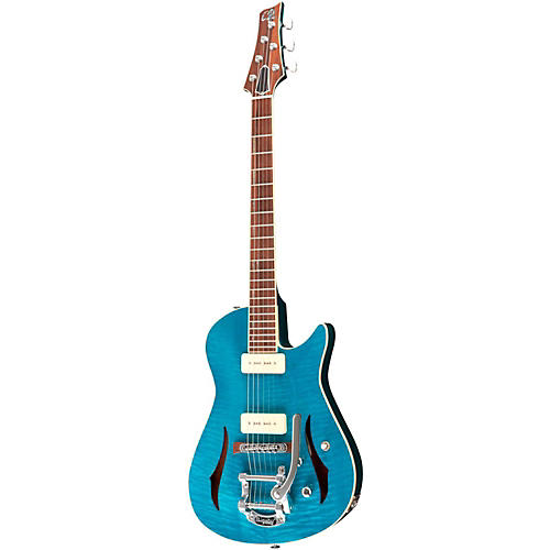 Giffin Guitars Valiant Hollowbody Electric Guitar Trans Turquiose