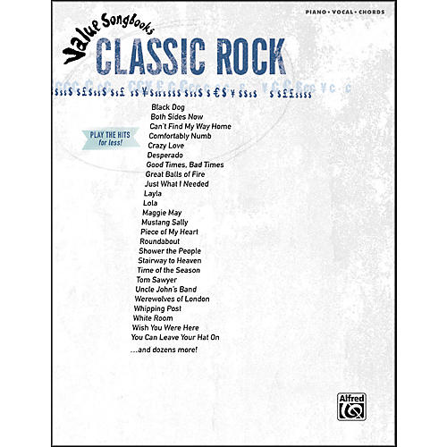 Hal Leonard Value Songbooks Classic Rock Piano/Vocal/Chords