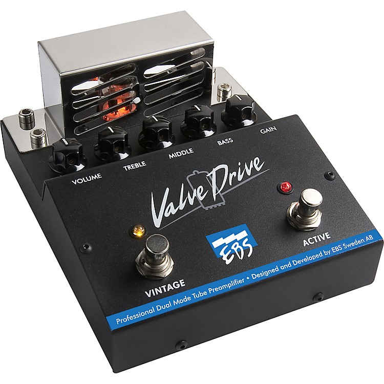 EBS ValveDrive Pro Dual Mode Tube Overdrive Effects Pedal
