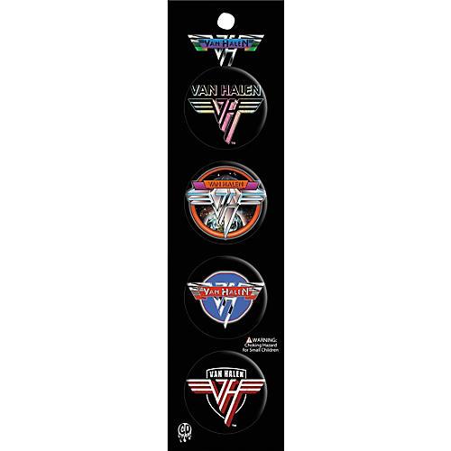 C&D Visionary Van Halen 4pcs Button Set-thumbnail