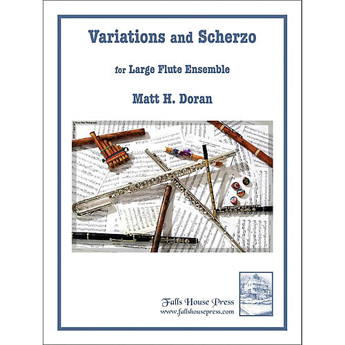 Carl Fischer Variations And Scherzo for Large Flute Ensemble-thumbnail