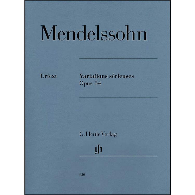 G. Henle VerlagVariations Sérieuses, Op. 54 By Mendelssohn