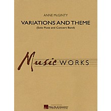 Hal Leonard Variations and Theme (for Solo Flute and Concert Band) Concert Band Level 4 Composed by Anne McGinty