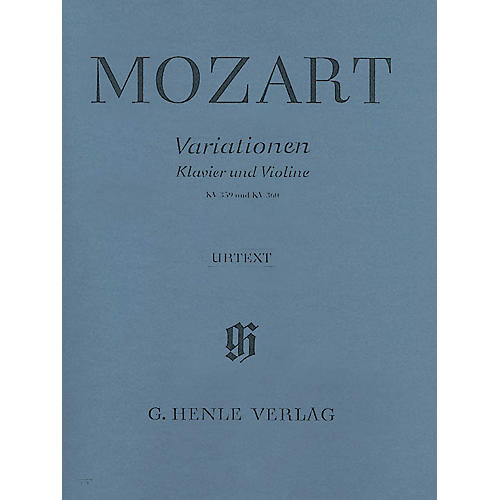 G. Henle Verlag Variations for Piano and Violin Henle Music Folios Series Softcover