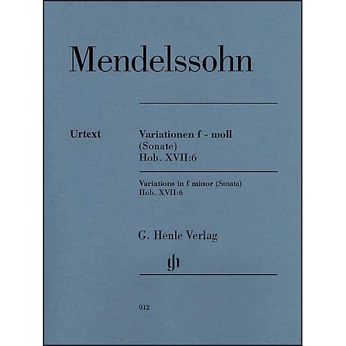 G. Henle Verlag Variations in F Minor (Sonata) Hob. XVII:6 Piano Solo By Haydn