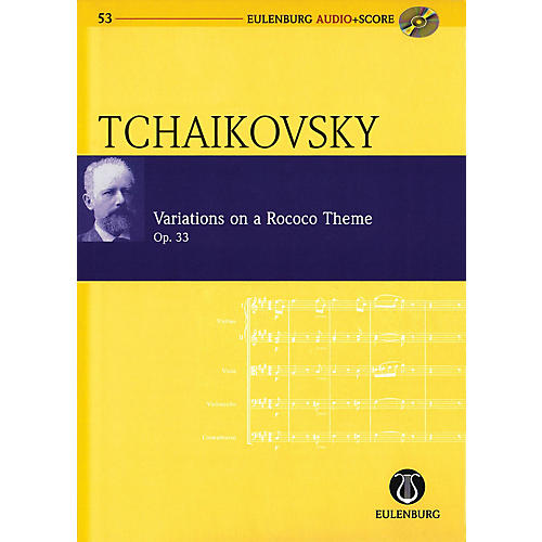 Eulenburg Variations on a Rococo Theme, Op. 33 Eulenberg Audio plus Score W/ CD by Tchaikovsky Edited by Kohlhase-thumbnail