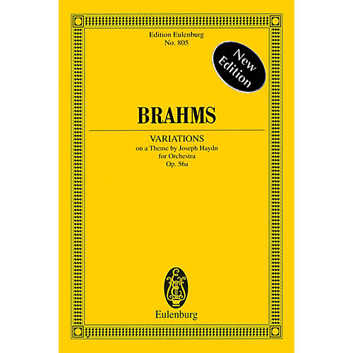 Eulenburg Variations on a Theme by Joseph Haydn Op. 56a Schott Series Softcover Composed by Johannes Brahms-thumbnail