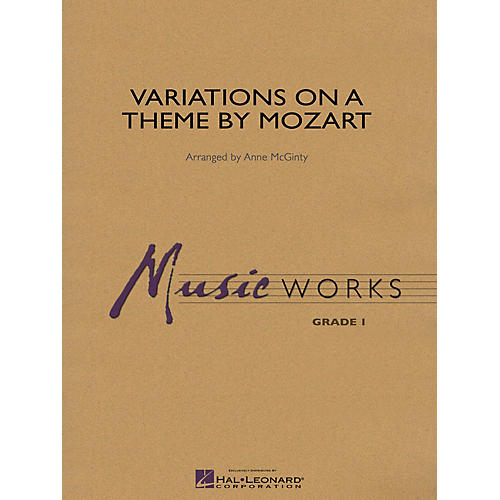 Hal Leonard Variations on a Theme by Mozart Concert Band Level 1 Arranged by Anne McGinty-thumbnail