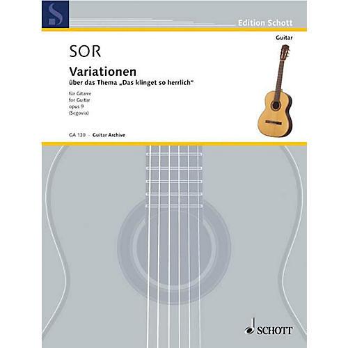 Schott Variations on a Theme of Mozart, Op. 9 (Guitar Solo) Schott Series-thumbnail