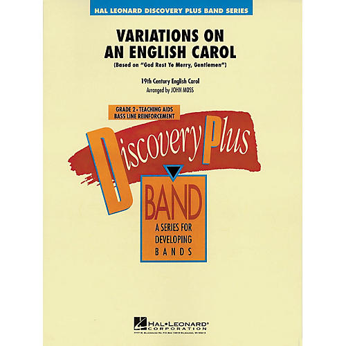 Hal Leonard Variations on an English Carol - Discovery Plus Concert Band Series Level 2 arranged by John Moss-thumbnail