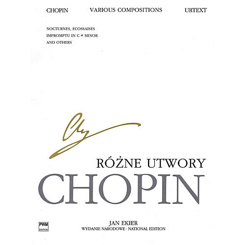 PWM Various Compositions for Piano (Chopin National Edition Volume XXIXB) PWM Series Softcover-thumbnail