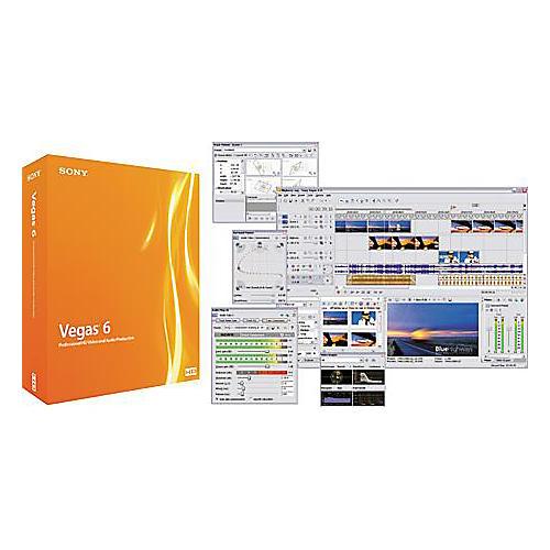 Sony Vegas 6.0 Software