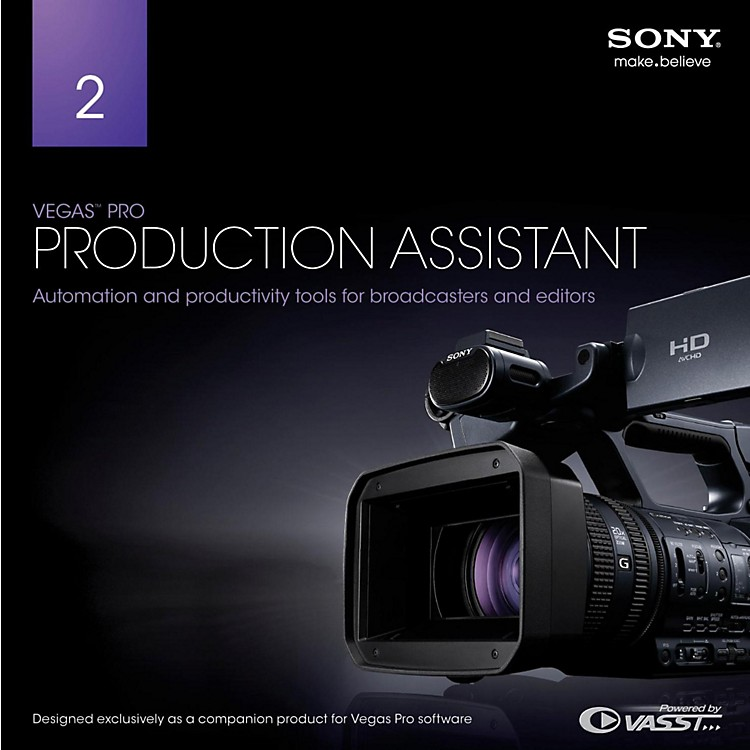 Sony Vegas Pro Production Assistant 2 Software Download