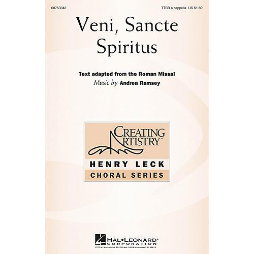 Hal Leonard Veni Sancte Spiritus TTBB composed by Andrea Ramsey-thumbnail