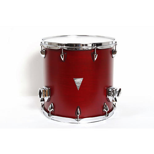 Orange County Drum & Percussion Venice Cherry Wood Floor Tom 14 x 14 Red Transparent Lacquer Finish