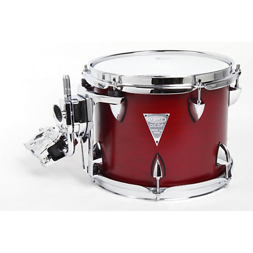 Orange County Drum & Percussion Venice Cherry Wood Tom 8x10 Red Transparent Lacquer Finish