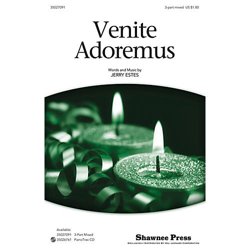 Shawnee Press Venite Adoremus 3-Part Mixed composed by Jerry Estes