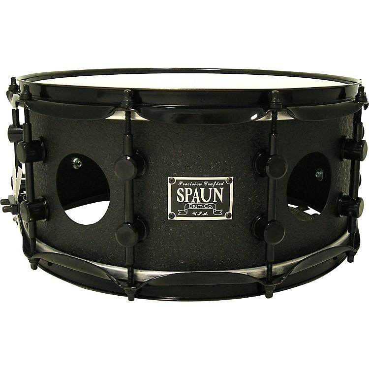 SpaunVented Steel Snare Black Wrinkle