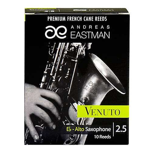 Andreas Eastman Venuto Alto Saxophone Reeds Strength 2.5 Box of 10