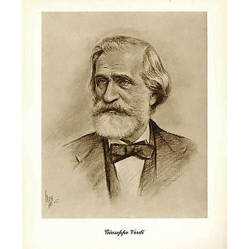 Hal Leonard Verdi (Lupas Small Portrait Poster) Music Sales America Series-thumbnail