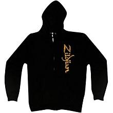 Zildjian Vertical Logo Zip Hoodie Black Medium