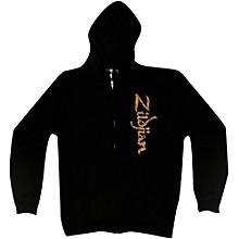 Zildjian Vertical Logo Zip Hoodie Black X-Large