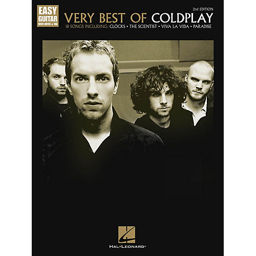 Hal Leonard Very Best of Coldplay - 2nd Edition Easy Guitar Series Softcover Performed by Coldplay