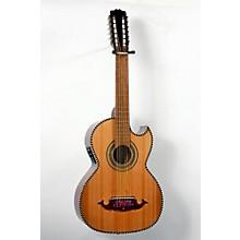 Paracho Elite Guitars Victoria-P 12 String Acoustic-Electric Bajo Sexto Level 2 Natural 888365694696