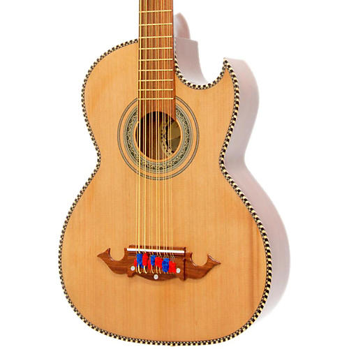 Paracho Elite Guitars Victoria-P 12 String Acoustic-Electric Bajo Sexto Natural