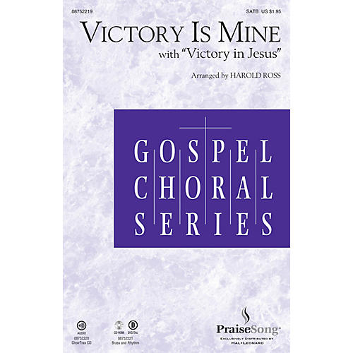 PraiseSong Victory Is Mine (with Victory in Jesus) CHOIRTRAX CD Arranged by Harold Ross-thumbnail