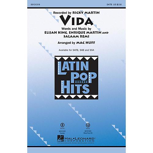 Hal Leonard Vida SATB by Ricky Martin arranged by Mac Huff