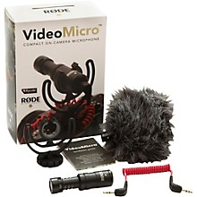 Open Box Rode Microphones VideoMicro Compact Directional On-Camera Microphone