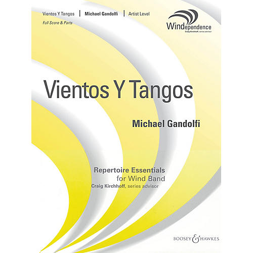 Boosey and Hawkes Vientos y Tangos (Score Only) Concert Band Level 5 Composed by Michael Gandolfi-thumbnail