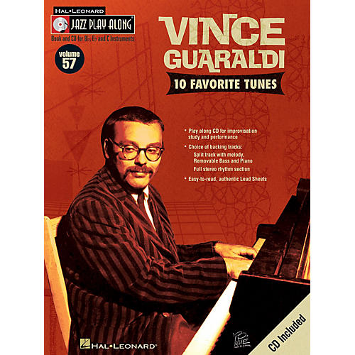 Hal Leonard Vince Guaraldi (Jazz Play-Along Volume 57) Jazz Play Along Series Softcover with CD by Vince Guaraldi-thumbnail