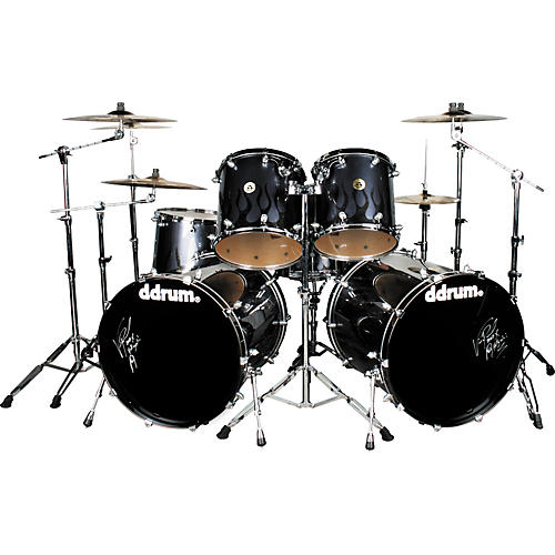 Ddrum Vinnie Paul 6-piece Signature Skull Flame Shell Pack