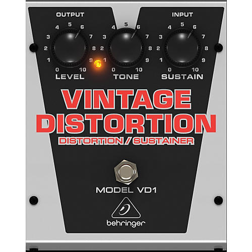 Behringer Vintage Distortion VD1 Distortion/Sustainer Effects Pedal