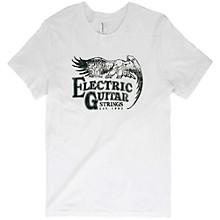Ernie Ball Music Man Vintage Electric Guitar Strings Black Font T-Shirt Medium White